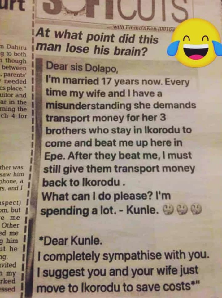 Funny newspaper story