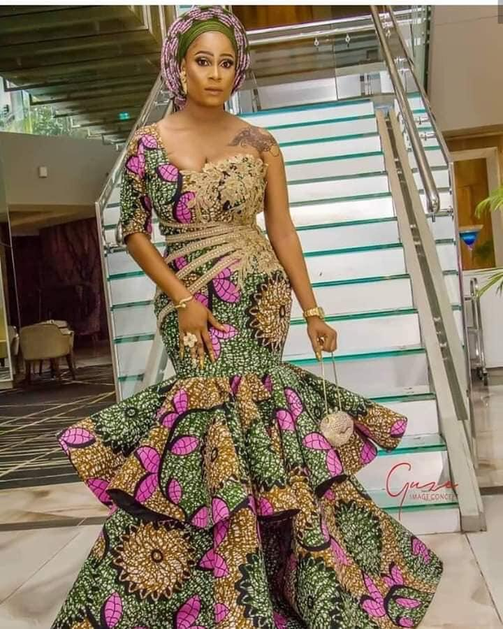 Pretty Ankara long gown