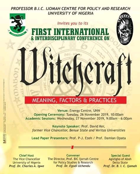 Funny witchcraft conference banner photo