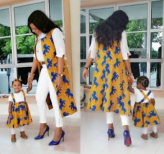 Mother and child matching Ankara style