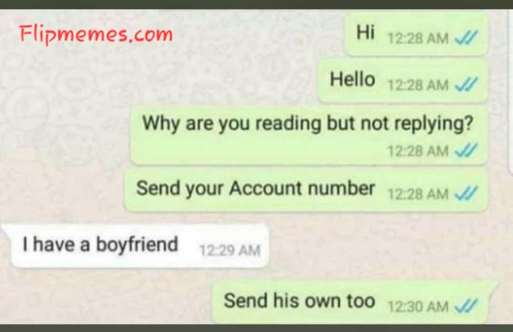 Funny WhatsApp conversation screenshot meme photo
