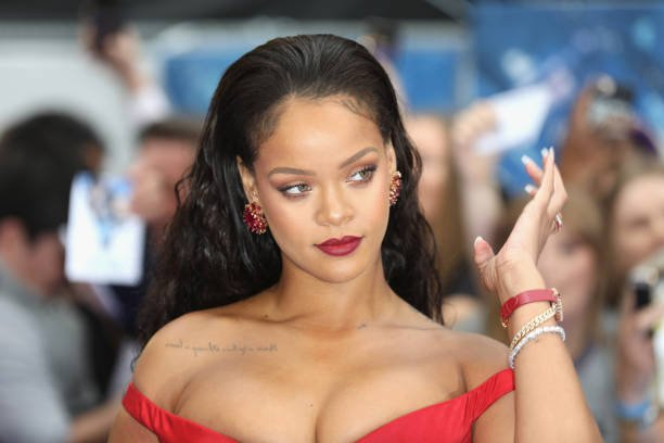 """LONDON, ENGLAND - JULY 24:  Rihanna attends the """"Valerian And The City Of A Thousand Planets"""" European Premiere at Cineworld Leicester Square on July 24, 2017 in London, England.  (Photo by Tim P. Whitby/Getty Images)"""