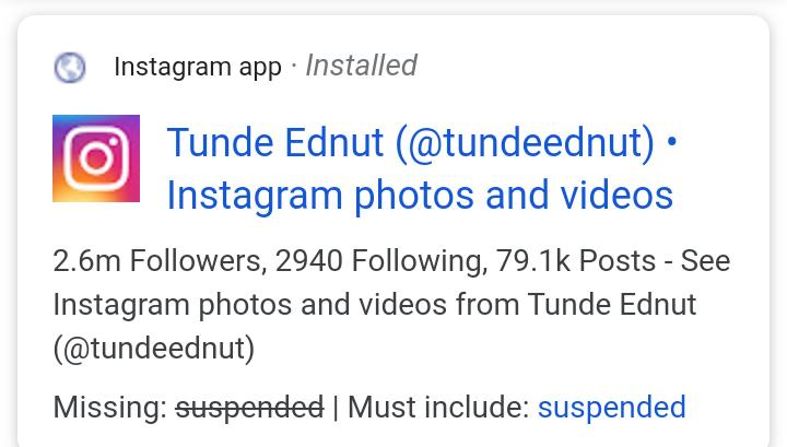 Instagram Shuts Down Tunde Ednut Page Users React Gist Flipmemes Tunde ednut causes confusion over comment on wizkid. instagram shuts down tunde ednut page