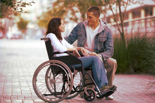 Physically disabled couple
